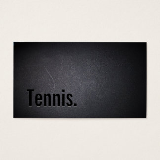 Tennis Modern Bold Text Professional Dark Business Card
