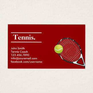 Tennis Modern Red Clay Business Card