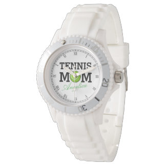 Tennis Mom Custom Name Wrist Watches