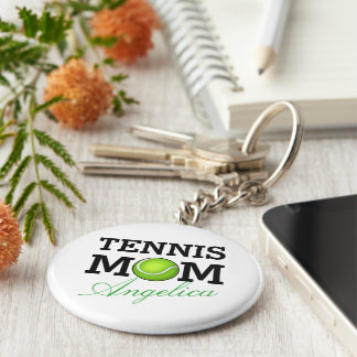 Tennis Mom Personalized Name Key Ring