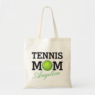 Tennis Mom Personalized Name Tote Bag