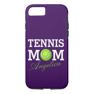 Tennis Mom Personalized Purple iPhone 8/7 Case