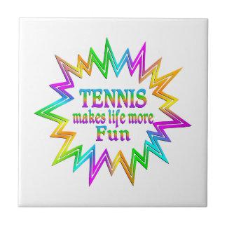 Tennis More Fun Ceramic Tile