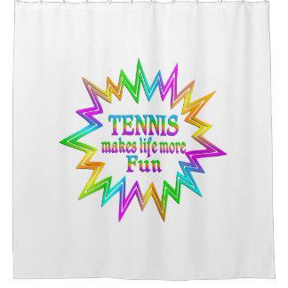 Tennis More Fun Shower Curtain