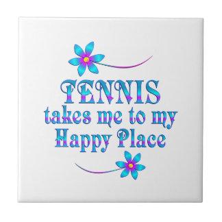 Tennis My Happy Place Ceramic Tile