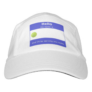 Tennis Name Tag Cap