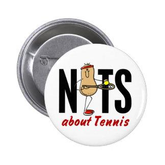 Tennis Nut 2 6 Cm Round Badge