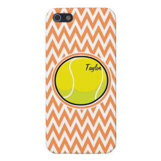 Tennis Orange and White Chevron iPhone 5 Cover