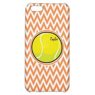 Tennis Orange and White Chevron iPhone 5C Case