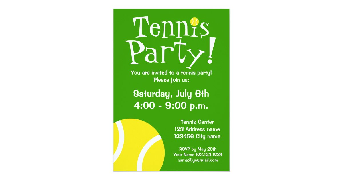 Tennis party invitations for Birthdays or BBQ | Zazzle.com.au