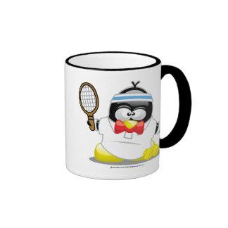 Tennis Penguin Ringer Mug