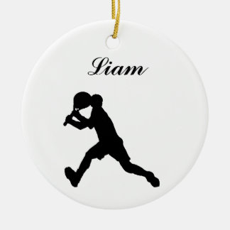 Tennis Personalised Christmas Ornament (male)