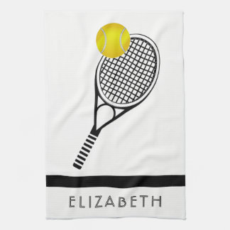 Tennis Personalised Name or Monogram Tea Towel