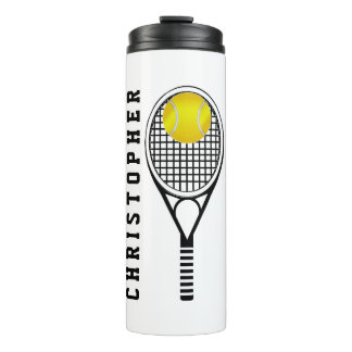 Tennis Personalised Name or Monogram Thermal Tumbler