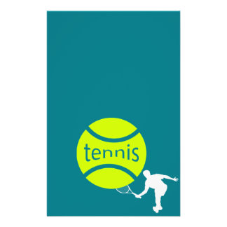 Tennis player 14 cm x 21.5 cm flyer