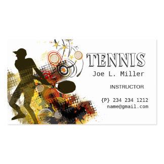 Tennis Player Business Card Template