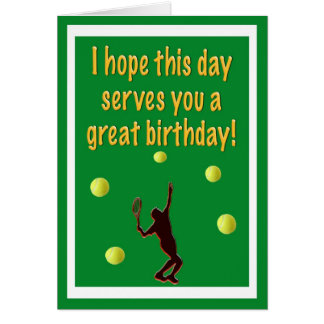 Tennis Player Happy Birthday Card