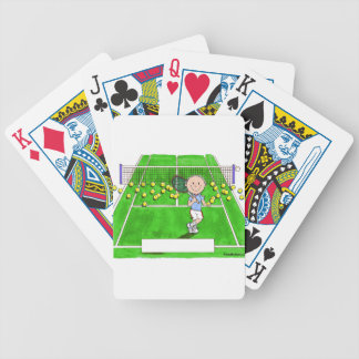 Tennis Player, Male - Personalized Cartoon Bicycle Playing Cards