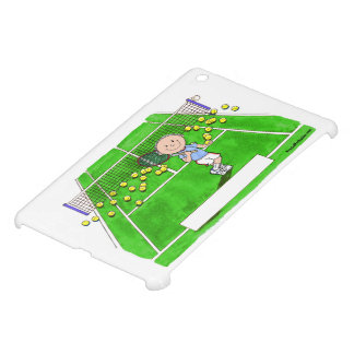 Tennis Player, Male - Personalized Cartoon Cover For The iPad Mini