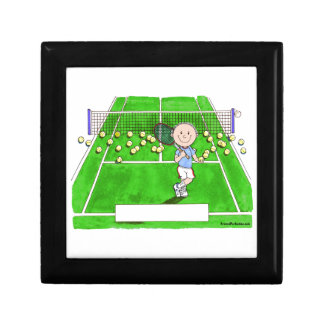 Tennis Player, Male - Personalized Cartoon Gift Box