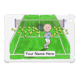Tennis Player, Male - Personalized Cartoon iPad Mini Case