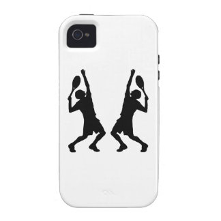 Tennis Player Mirror Image iPhone 4 Covers