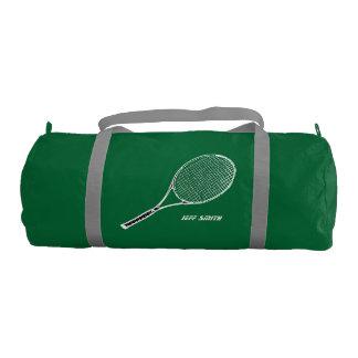 tennis player personalized gym duffel bag