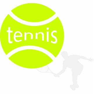 Tennis player standing photo sculpture