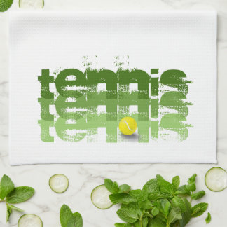 Tennis player, travel, personalized tea towel