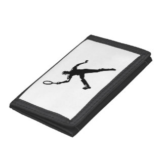 Tennis Player Tri-fold Wallet