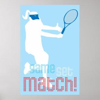Tennis Poster - Game Set Match!