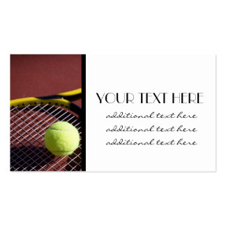 Tennis Pro Pack Of Standard Business Cards