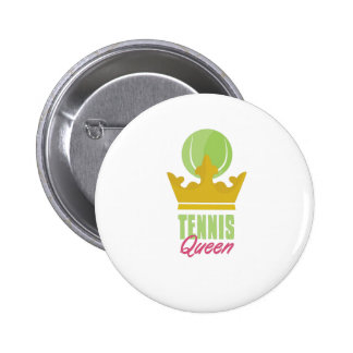 Tennis Queen 6 Cm Round Badge