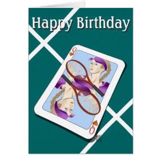Tennis Queen Happy Birthday Card