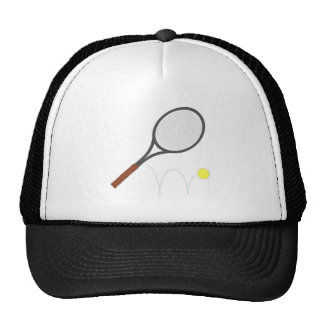 Tennis Racket And Ball Mesh Hat