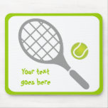 Tennis racket and ball custom mouse pad