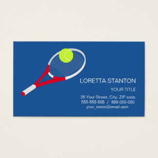 Tennis racket and tennis ball business card