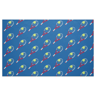 Tennis racket and tennis ball fabric