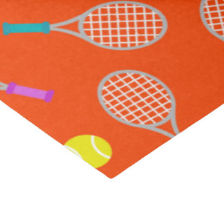Tennis racket ball pattern party tissue themed tissue paper