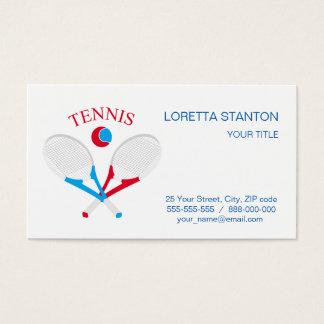 Tennis rackets and tennis ball business card