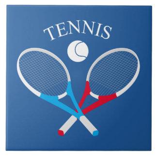 Tennis rackets and tennis ball ceramic tile