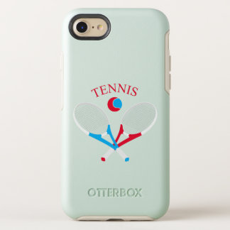Tennis rackets and tennis ball OtterBox symmetry iPhone 8/7 case