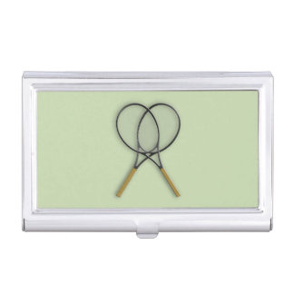 Tennis Rackets Sports Design Business Card Holder