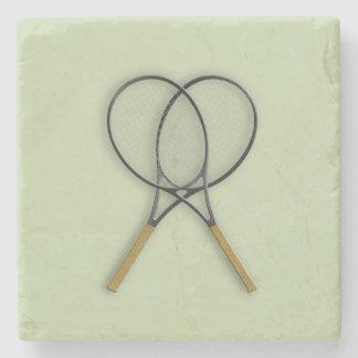 Tennis Rackets Sports Design Stone Coaster