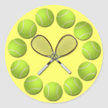 TENNIS RACQUET AND BALLS STICKERS