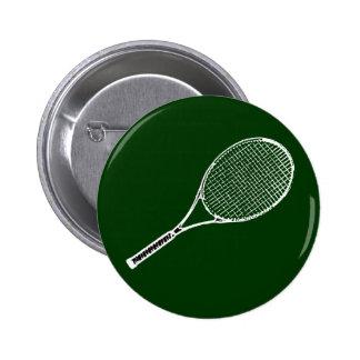 tennis racquet 6 cm round badge
