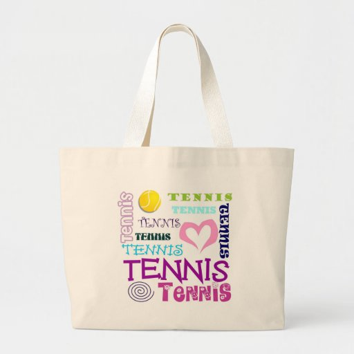Tennis Repeating Canvas Bags