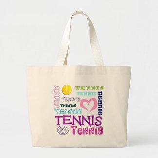 Tennis Repeating Large Tote Bag