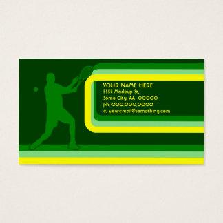 tennis : retro style : business card