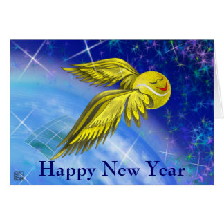 Tennis satellite Happy New Year Card
